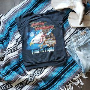 Vintage Harley Davidson Cutoff Musle Sweatshirt